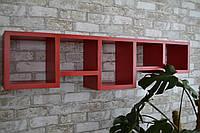 """Поличка настінна з натурального дерева""""tetris"""" (Полка настенная из натурального дерева ''tetris"""")"""