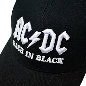 бейсболка AC/DC Back In Black (3D вышивка), фото 2