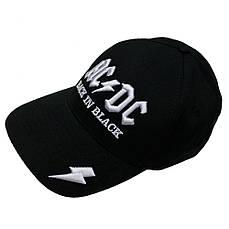 бейсболка AC/DC Back In Black (3D вышивка)