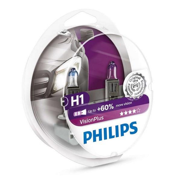 Галогенные лампы H1 VisionPlus 12V 55W (12258VPS2)