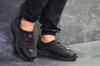 Мужские кроссовки Merrell термо черные с красным (Реплика ААА+)