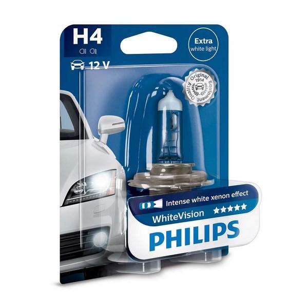 Галогенная лампа Philips H4 WhiteVision 12V 60/55W (12342WHVB1)
