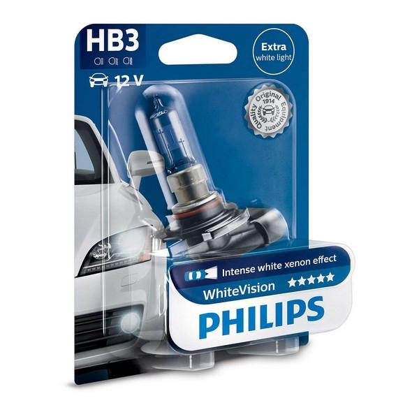 Галогенная лампа Philips HB3 WhiteVision 12V 65W (9005WHVB1)