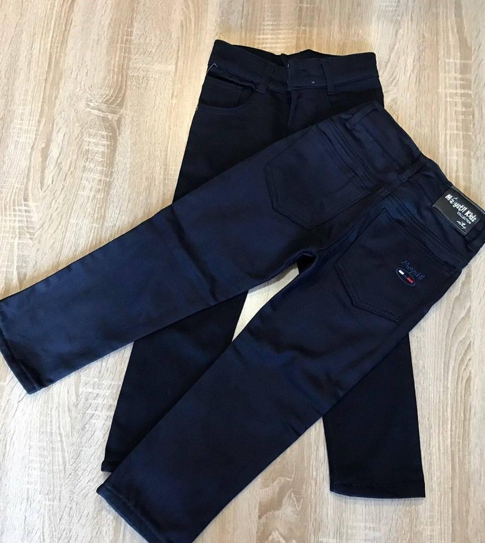 Детские теплые брюки для мальчика 6-12 лет
