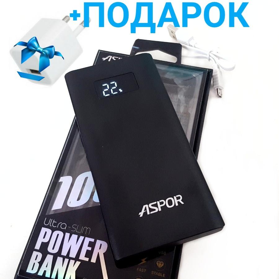 Оригинал Внешний аккумулятор 10000(мА/ч) ASPOR A387-S (Power Bank), черный