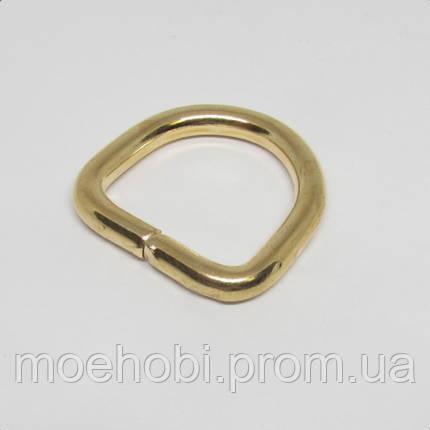 Полукольцо для сумки (20мм) золото 4225, фото 2