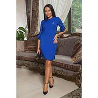 Платье женское норма прямого покроя АПП-6048 синий, фото 1