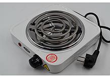 Спиральная электроплита на одну конфорку с регулятором мощности белого цвета WimpeX WX-100B-HP, фото 2