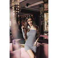 Платье женское норма-мини без рукава КВЛ-594 серый, фото 1