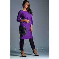 """Костюм женский большого размера женский """"Осень"""" СИ-661 фиолетовый, фото 1"""