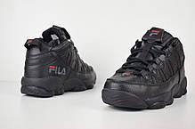 """Зимние кроссовки на меху Fila Spaghetti High """"Black"""" (Черные), фото 2"""