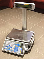 Весы с чекопечатью DIGI SM-300P 15кг. (со стойкой)