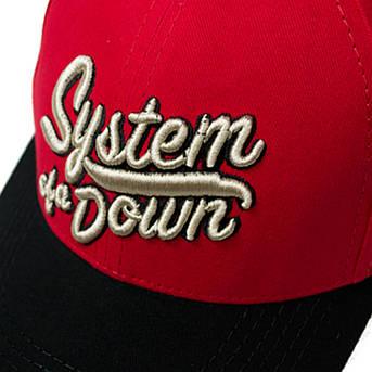 бейсболка SYSTEM OF A DOWN лого (3D вышивка), фото 2