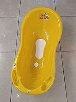 """Детская ванночка """"Дино"""", антискользящий коврик, сливной сток, 100 см"""