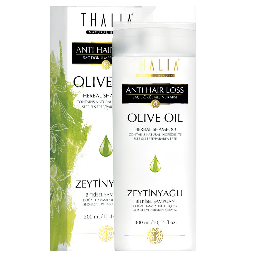 Шампунь для поврежденных волос с оливковым маслом THALIA, 300 мл