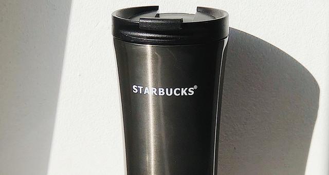 Термокружка Starbucks (Старбакс) H 206 500 мл, серая