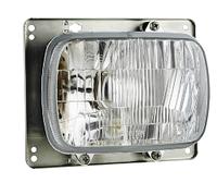 Фара головного света с габаритом Wesem RE.27708 с монтажной жестью 192х133х110