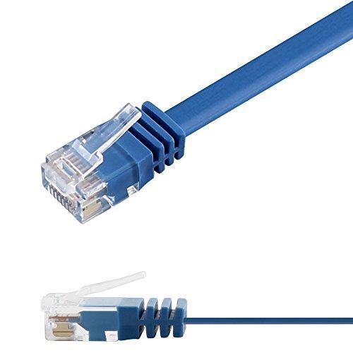 Патч-корд 3м Ligawo 1014154.0 RJ45 Cat6, 1-Gigabit, плоский, синий