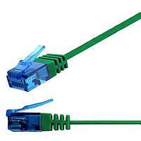 Патч-корд 20м Ligawo 1014358.0 RJ45 Cat6, 1-Gigabit, плоский, зеленый, фото 1