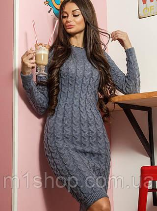 Женское теплое вязаное платье (Лейла mrb), фото 2