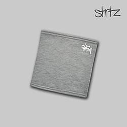 Теплый горловик Stussy серого цвета  (люкс копия)