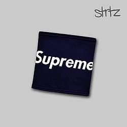 Теплый горловик Supreme синего цвета  (люкс копия)