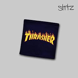 Теплый горловик Thrasher синего цвета  (люкс копия)