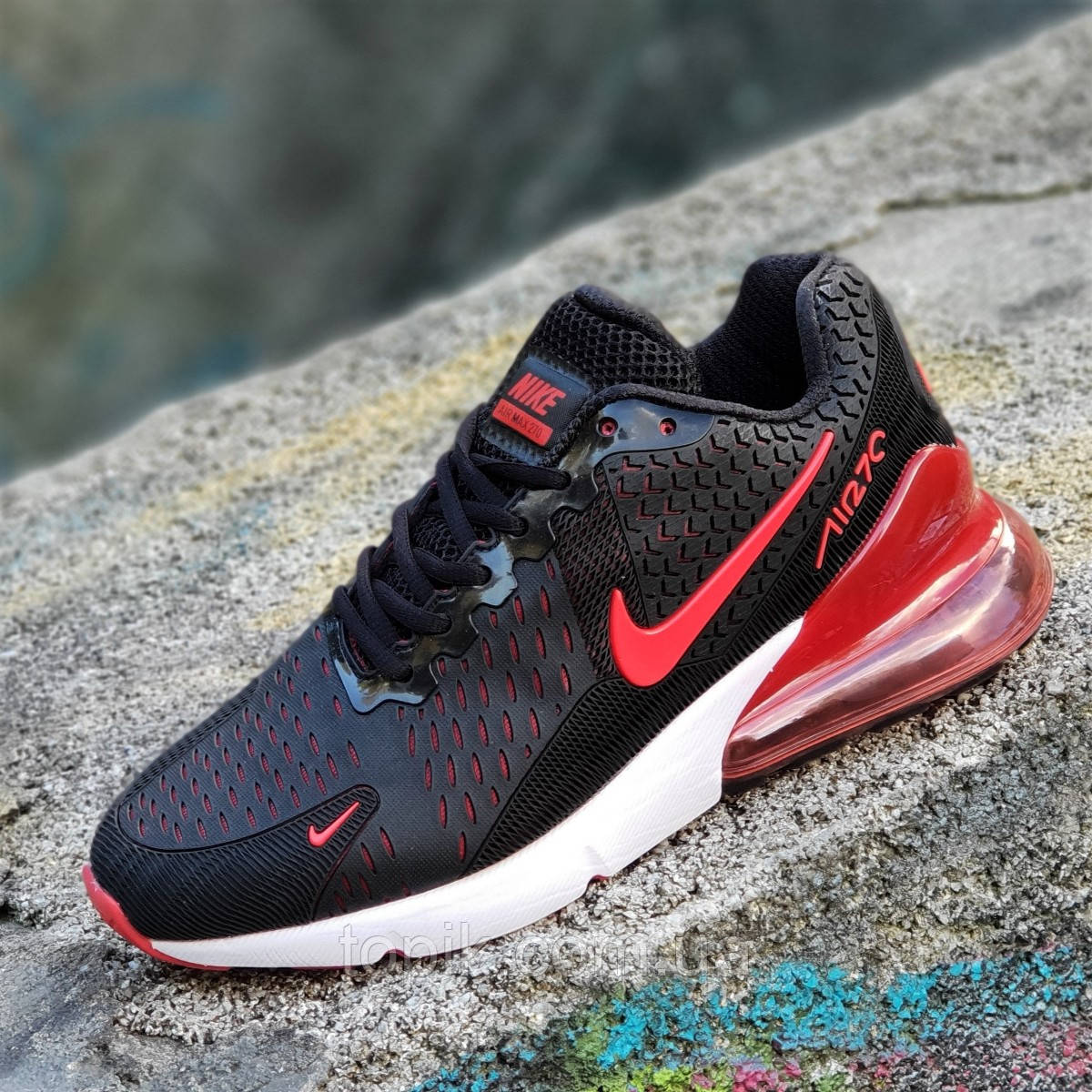 Кроссовки Nike Air Max 270 реплика мужские черные легкие и удобные, подошва  пенка (Код  1277) 05b0045124a