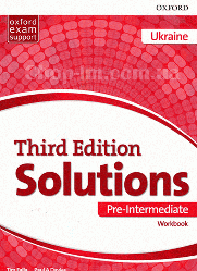 Solutions Third Edition Pre-Intermediate Workbook (Edition for Ukraine) / Рабочая тетрадь