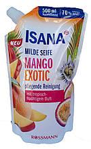 Isana жидкое крем-мыло Манго и апельсин (запаска) (500 мл) Германия