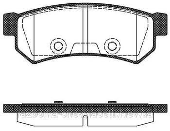 Тормозные колодки REMSA задние для Chevrolet Lacetti