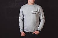 Мужская теплая кофта в стиле Audi серая, фото 1