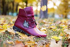 Кожаные женские ботиночки осень/зима от Christina