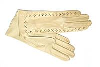 Перчатки кожаные женские Alpa Gloves  бежевые без подкладки  размер 7,5