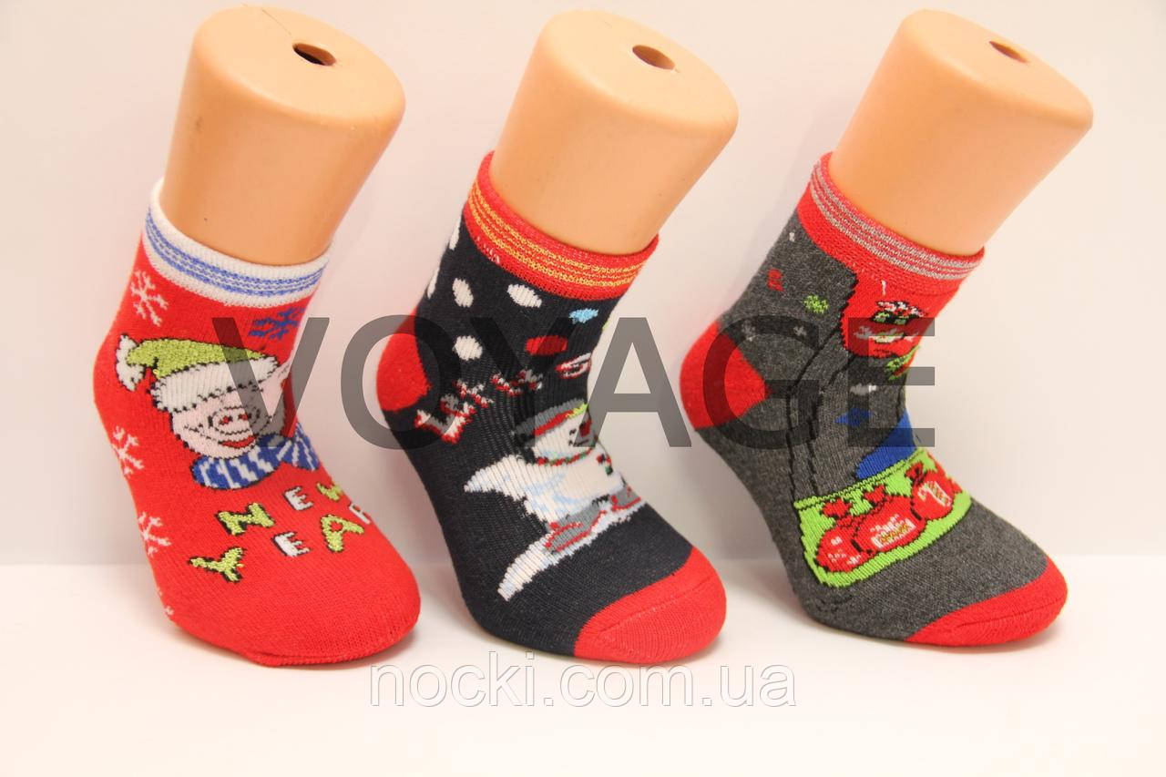 Новогодние зимние носки с махрой 0,1,3