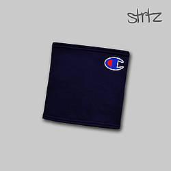 Теплый горловик Champion синего цвета  (люкс копия)