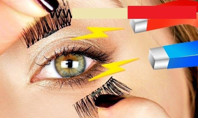 Магнитные накладные ресницы на один магнит Eyelashes  (реснички)