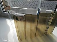 Профільний полікарбонат (бронзовий шифер) Suntuf 1,06х2м, фото 1