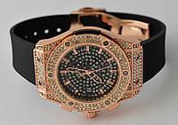 Часы женские  HUBLOT -  cristal black@gold