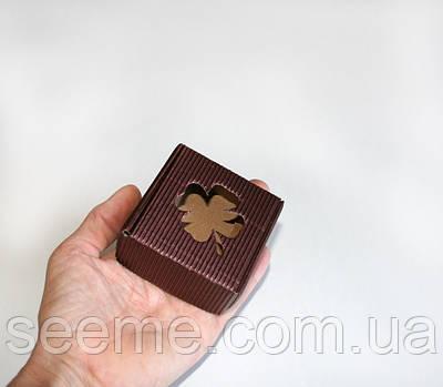Коробка з мікрогофрокартону, 60х60х30 мм, колір шоколадний