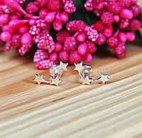 Серебряные серьги Звездочки #, фото 1