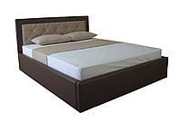 Мягкая кровать Флоренс двуспальная с подъемным механизмом