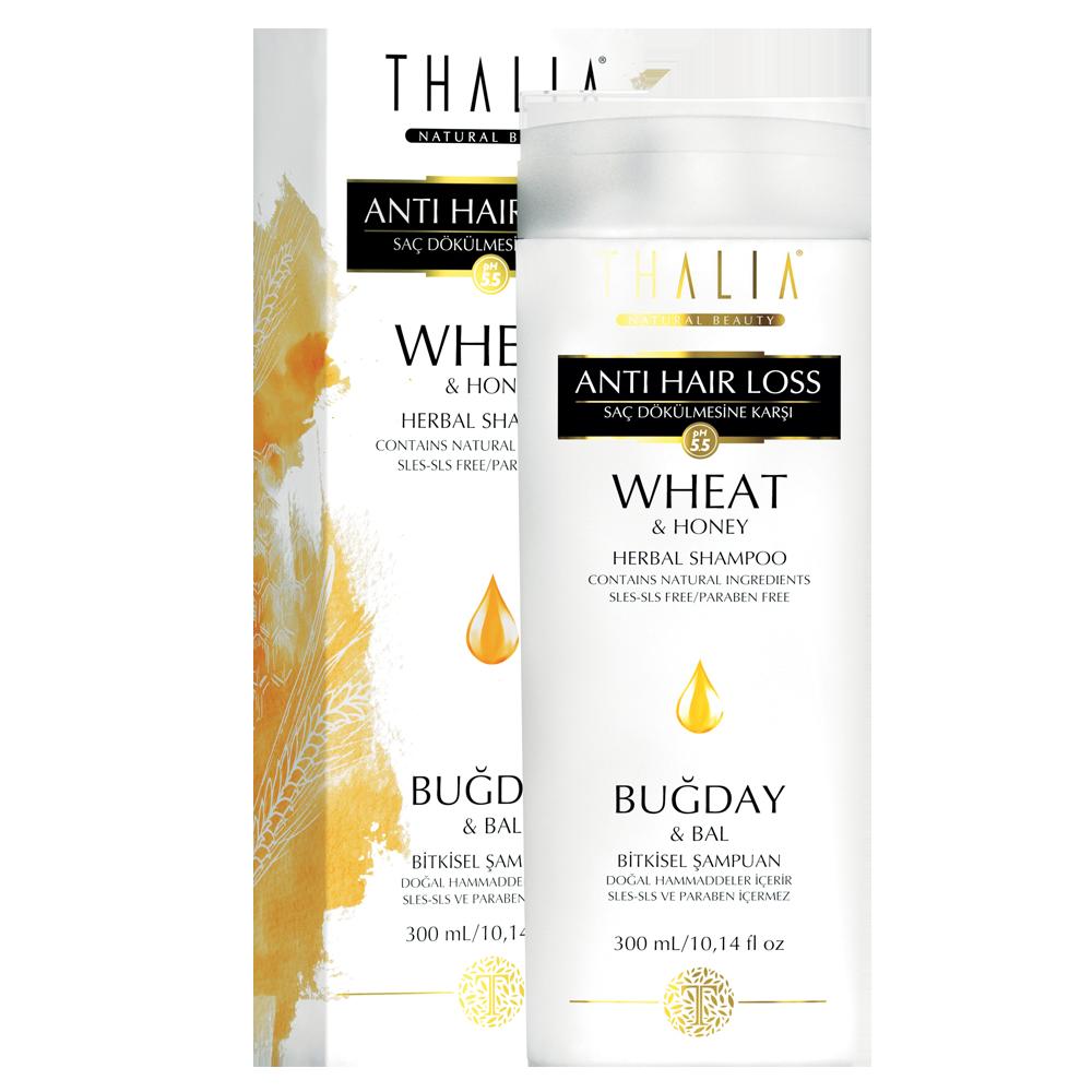 Безсульфатный шампунь для окрашенных волос с медом и протеинами пшеницы THALIA, 300 мл