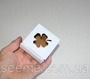 Коробка из микрогофрокартона, 60х60х30 мм, цвет белый