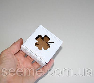 Коробка з мікрогофрокартону, 60х60х30 мм, колір білий