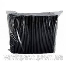 Трубочки для коктейля Чёрные 4,8мм / 21 см  (200 шт)