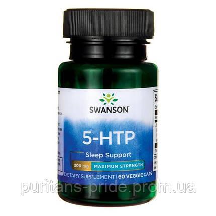 5-гидрокситриптофан, Swanson 5-HTP, 200 мг, 60 капсул, фото 2