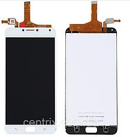 "Дисплей (экран) для Asus ZenFone 4 Max 5.5"" (ZC554KL)/4 Max Pro/4 Max Plus + тачскрин, цвет белый"