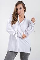 Стильная женская блуза  свободного кроя  с завязками на рукавах, фото 1