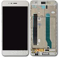 Дисплей (экран) для Asus ZenFone 3 Max (ZC520TL) 5.2 + тачскрин, цвет белый, с передней панелью